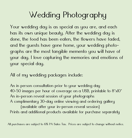 MF Wedding Price List 2016 TriFold Description